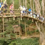 Bamboo Bridge, jembatan baduy, gazeboh