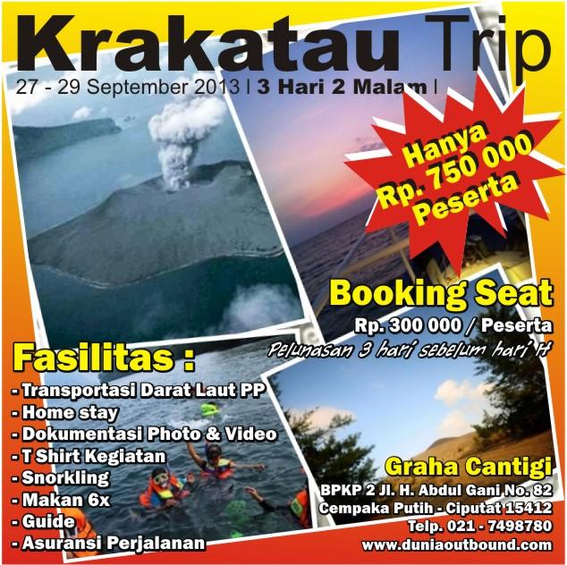 krakatau trip, gunung krakatau