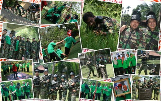 paintball outbound mitra galperti, outbound puncak