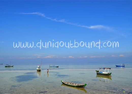 perahu nelayan pulau pari, pulau pari, outbound pulau seribu