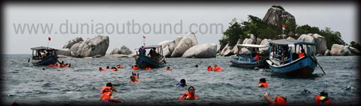 belitung outbound, dunia outbound, asuransi samsung tugu, pulau belitung, outbound di belitung