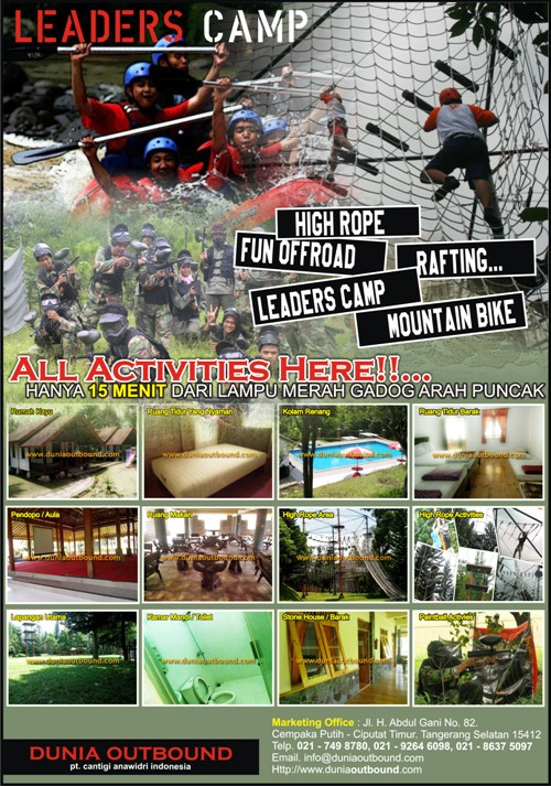 lokasi outbound, lokasi outbound di puncak