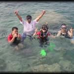 snorkling di pulau putri