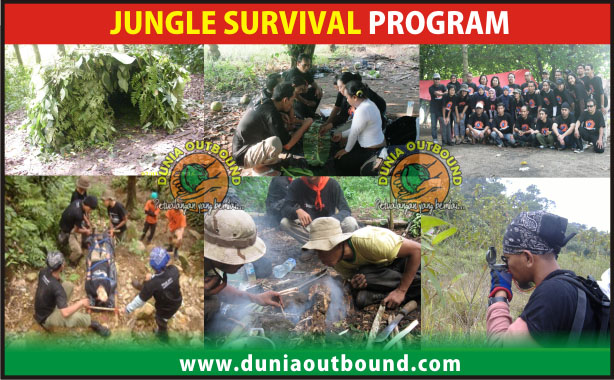 program outbound, jungle survival, materi outbound