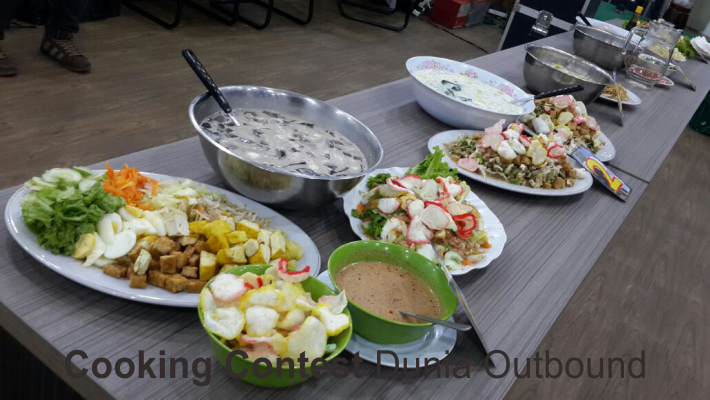 cooking contest dunia outbound, outbound kementerin agama, outing, character building, outbound puncak, outbound di bogor