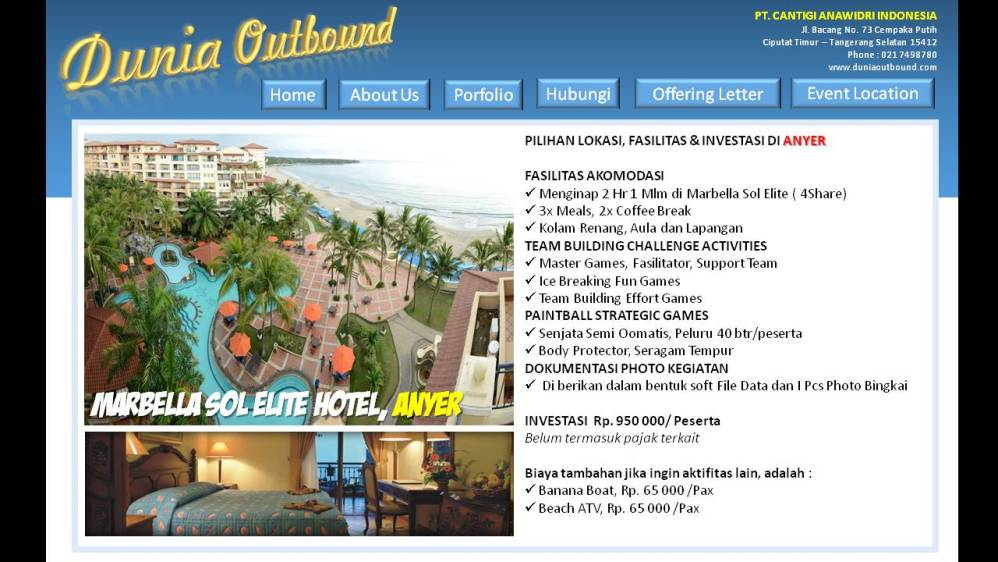 lokasi outbond di anyer,outbound anyer, marbella outbound anyer