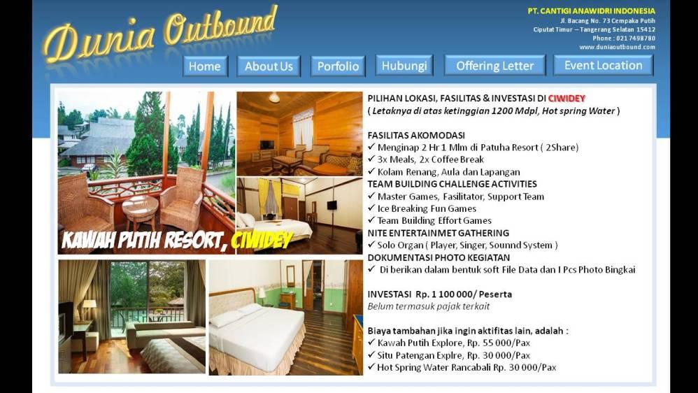 outbound ciwidey, lokasi outbond bandung, kawah putih, patuha resort