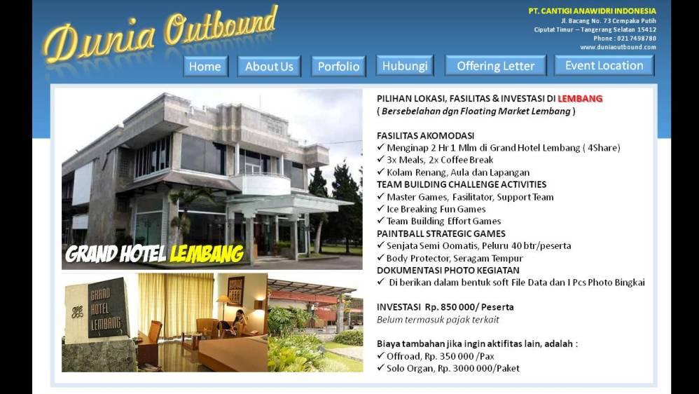 lokasi outbond bandung,outbond lembang, outbound lembang, grand lembang hotel