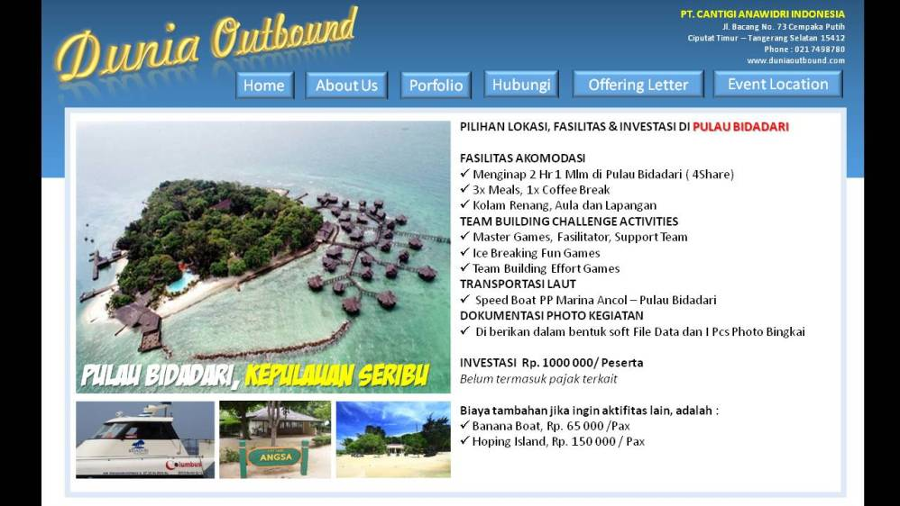 outbound pulau seribu, outbond pulau bidadari, outing pulau seribu