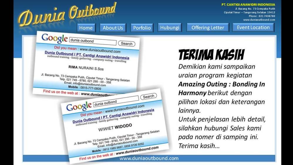 marketing outbound, sales outbound, outbound bogor, outbond bogor