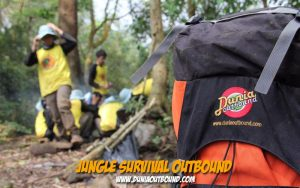 jungle survival outbound, sekolah survival indonesia, jungle survival