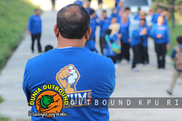 Outbound di Puncak bareng KPU RI